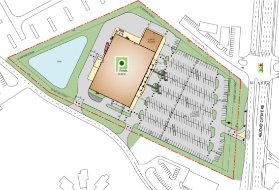 Commercial site planning services for Grocery store design layout planning services