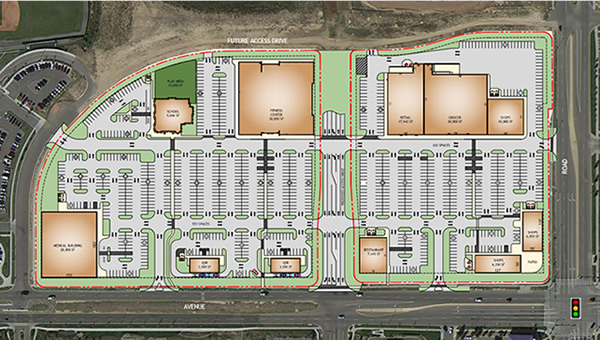 Master development plans commercial site plan for Property site plan software