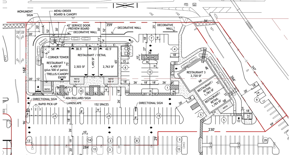 Commercial Site Plan Commercial Real Estate Site