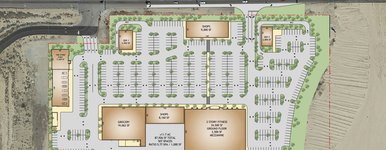 Commercial site plan commercial real estate site for Planner site